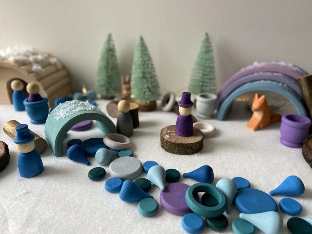 Speeltafel winter in het bos